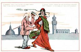 CPA - WW1 WWI Propaganda Propagande - Dante Alighieri, Firenze - Umoristica Satirica, Humour Satirique - NV - PV154 - Oorlog 1914-18