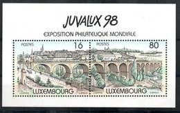 Luxemburg Block 17 Mnh ** II.W. Brücke Viadukt Auto Car Voiture Strasse Brücke Street Brigde - Blocs & Feuillets