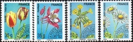 France Préoblitéré N° 259 à 262 ** Végétaux, Fleurs,Flore - Ancolie - Tulipe - Paquerette - Primevère - TVP 35 & 50 Gr. - 1989-....