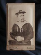 Photo CDV A. Cailloué à Lorient - Marine De Guerre, Matelot Du D'estrées Circa 1895-1900 L548 - Ancianas (antes De 1900)