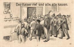 CPA - WW1 WWI Propaganda Propagande - KAISER - Umoristica Satirica, Humour Satirique - VG - PV181 - Oorlog 1914-18