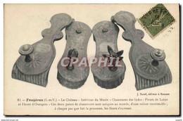 CPA Fougeres Le Chateau Interieur Du Musee Chaussures Des Indes Fleurs De Lotus Et Fleurs D&#39orang - Craft