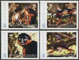 GUINEA-BISSAU 2012 Wildlife Monkeys Animals Fauna MNH - Monkeys