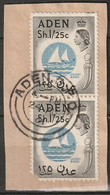Aden 1956 Sc 56  Pair Used On Piece Aden CDS - Aden (1854-1963)
