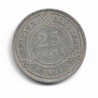 HONDURAS BRITANNIQUE - 25 CENTS VICTORIA 1897 ARGENT - Belize