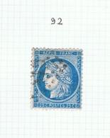 Variété Suarnet N°92 - 1871-1875 Ceres