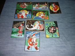 Lot Carte Postale Illustrateur  Patrick Hamm  Lot De 9 Cartes Noël Et Bonne Année - Hamm