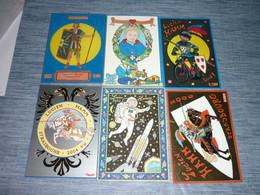 Lot Carte Postale Illustrateur  Patrick Hamm  Lot De 6 Cartes Anniversaire Lucien - Hamm