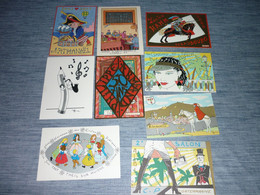 Lot Carte Postale Illustrateur  Patrick Hamm  Lot De 9 Cartes - Hamm