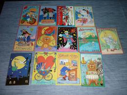 Lot Carte Postale Illustrateur  Patrick Hamm  Lot De 13 Cartes Anniversaire Natanaël - Hamm