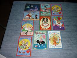 Lot Carte Postale Illustrateur  Patrick Hamm  Lot De 10 Cartes Clemence - Hamm