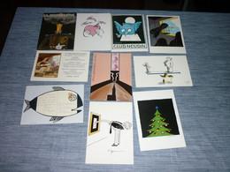 Lot Carte Postale Illustrateur Tomi Ungerer 10 Cartes - Ungerer