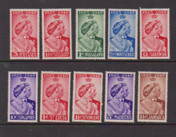 COLLECTION  Of  10  Stamps   Royal  Silver  Wedding    1949    MH - Verzamelingen (zonder Album)