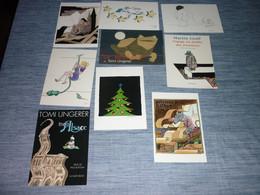 Lot Carte Postale Illustrateur Tomi Ungerer 9 Cartes - Ungerer