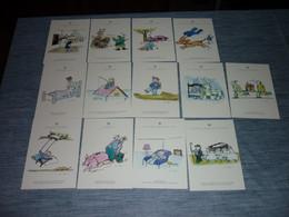 Lot Carte Postale Illustrateur Tomi Ungerer 13 Cartes GROUPAMA ALSACE - Ungerer