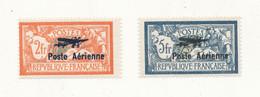FRANCE Poste Aérienne YT N°1 Et 2 Charnière Légère Signés - Cote 500€ - Voir Scan - 1927-1959 Ungebraucht