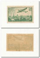 FRANCE Poste Aérienne 50 Frs Vert-jaune YT N°14 Charnière Légère Et Adhérences - Signé Calves - Voir Scan - 1927-1959 Ungebraucht