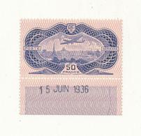 FRANCE Poste Aérienne 50 Frs Burelé YT N°15 Bord De Feuille - Charnière Légère Voir Scan - 1927-1959 Ungebraucht
