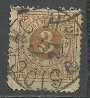 Suède - Schweden - Sweden 1872-85 Y&T N°16B - Michel N°17 (o) - 3ö Chiffre - Oblitérés