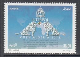 2013 Algeria Algerie Interpol Police   Complete Set Of 1 MNH - Algérie (1962-...)