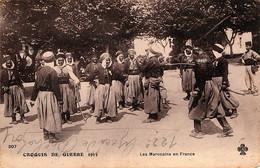 Groupe De Spahis Algériens (en Non Marocains) En France Au Début De La Guerre De 1914 - War 1914-18