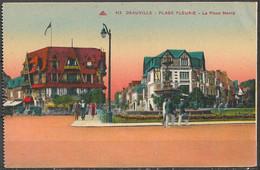 CPA,NON CIRCULE,DEAUVILLE,LE JARDIN FLEURIE,LA PLACE MORNY. - Deauville