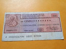 ITALIE TORINO 100 LIRE 18.2.77 - Otros