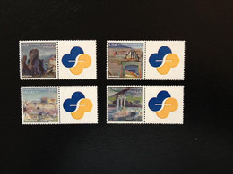 GREECE, 2009 GREEK MONUMENTS OF WORLD CULTURAL HERITAGE PERSONAL STAMP WITH LABEL ,COMPLETE SET, MNH - Ongebruikt
