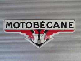 Plaque Ancienne émaillée (format Voir La Pièce De 1e00) - Automotive