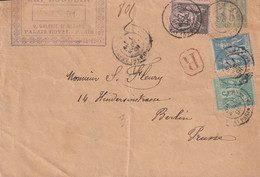 France Upfranked Postal Stationary Posted Paris 1891 To Berlin - Postmark On Back (G130-29) - 1876-1898 Sage (Type II)