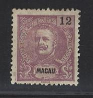 Portugal Macau 1903 D. Carlos I 12 Avos  Condition Mint Hinged  Mundifil #135 - Unused Stamps