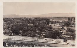 Ellensburg Washington, Mt. Stweart Range Ellensburg, Houses, Signs, C1940s Vintage Ellis #6902 Real Photo Postcard - Otros