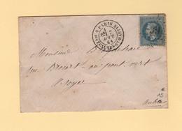 Paris - Etoile 39 - R. Des Ecluses St Martin - 7 Aout 1868 - 1849-1876: Classic Period