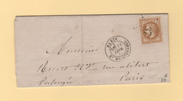 Paris - Etoile 37 - Bt Malesherbes - 11 Fevr 1868 - 1849-1876: Classic Period
