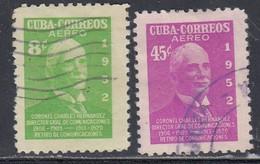 Cuba, Scott #C63, C70, Used, Sandrino, Issued 1952 - Aéreo