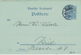 Physiologischer Verein Ganzsache Kiel 1902 - Heller über TBC - Stargardt Augenveränderungen Siderosis & Myopie - Medicina