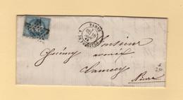 Paris - Etoile 16 - R. De Palestro - 16 Nov 1869 - 1849-1876: Classic Period