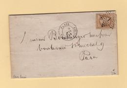 Paris - Etoile 1 - Pl De La Bourse - 9 Juin 1868 - Sans Levee - 1849-1876: Classic Period