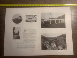 DOCUMENT SUISSE Chemin De Fer Du Righi Pont Unterstetten Klosterli Schurntobel - Collezioni