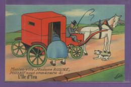 85-CPA ILE D'YEU - CARTE A SYSTEME - Ile D'Yeu