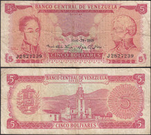 Venezuela 5 Bolivares Banknote 29.4.1969 VG (5) Pick 50b   (28314 - Other - America