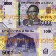 ANGOLA 5000 Kwanzas 2021 (2020) - Kapanda Falls, New Signature,  PNEW, Paper, UNC - Angola