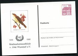 Bund PP106 C2/057 NACHTIGALL Wunstorf 1986 - Postales Privados - Nuevos