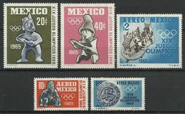 Mexico 1965 Mi 1192-1196 Postfris  - Other