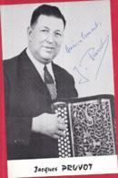 """Jacques PRUVOT Abbeville, """"Vedette De RADIO-LILLE """" - Accordéon CAVAGNOLO - (2 Scans) - Singers & Musicians"""