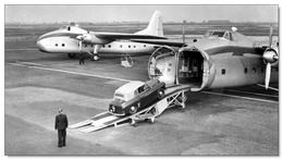 Hillman Minx Convertible Entering The Nose Of Bristol 170 Freighter Of Silver City Airways In The 1950s - 15x10cms PHOTO - 1946-....: Era Moderna