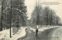 """CPA FRANCE 23 """" Bourganeuf, La Croix Des Bois, La Vieille Route De St Christophe Et Route De Bourganeuf"""". - Bourganeuf"""