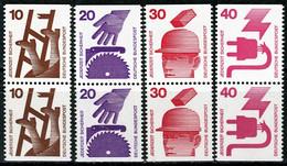 A13-21-1) BRD - Mi 695 696 698 699 Je C/D Komplett 4x Senkrechte □□ ✶✶ - 40/10/30/20Pf C/D Unfallverhütung - Unused Stamps