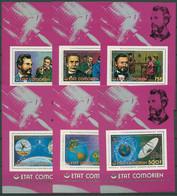 Komoren 1976 100 Jahre Telefon Satellit Block 38/43 A Postfrisch (C29789) - Komoren (1975-...)