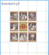 Austria 1969 Mi Sheet 1294-1301 MNH  - Theater